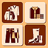 Vector clipart: clothing icons