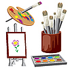 Vector clipart: painting set