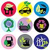 Vector clipart: Environmental icons