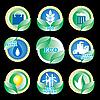 Векторный клипарт: экологически иконки