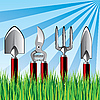 Векторный клипарт: садовые инструменты