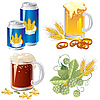 Vector clipart: beer set