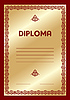Vector clipart: diploma template