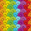 Vector clipart: Flowers rainbows