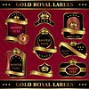 Vector clipart: gold royal labeles