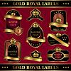 Векторный клипарт: золотой королевской labeles