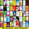 Vector clipart: 45 vertical business cards