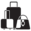 Vector clipart: luggage icon