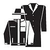 Vector clipart: overcoat icon