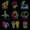 Vector clipart: line eco icons