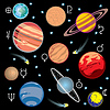 Vector clipart: set planet symbols