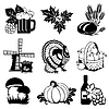 Autumn icons | Stock Vector Graphics