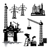 Vector clipart: industrial buildings