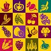Векторный клипарт: Фрукты и овощи