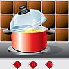 Vector clipart: pot wich soup
