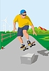 Vector clipart: skateboard