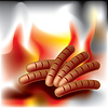 Vector clipart: barbecue sausage