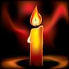 Векторный клипарт: горящая свеча