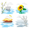 Vector clipart: seasons
