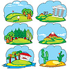 Vector clipart: travel land