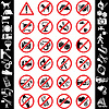 Vector clipart: ikons safety