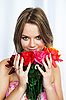 Girl with flowers | Stock Foto