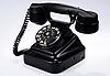 Black retro phone | Stock Foto
