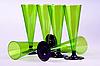 Photo 300 DPI: six tall wine glasses