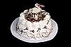 Photo 300 DPI: White cake with stork