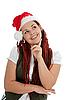 젊은 현대 크리스마스 소녀 | Stock Foto