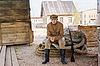 ID 3158908 | Retro-Stil Bild mit Soldat sitzt auf dem Seil | Foto mit hoher Auflösung | CLIPARTO