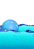 Bubble floating on water | Stock Illustration