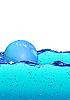 Blase auf dem Wasser | Stock Illustration