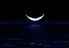 Moon reflected in water | Stock Foto