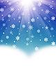 Weihnachtshintergrund von Schneeflocken | Stock Illustration