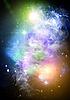 Stars and galaxy | Stock Illustration
