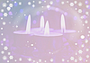 ID 3116453 | Christmas background with candles | High resolution stock illustration | CLIPARTO