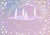 Weihnachtshintergrund mit Kerzen | Stock Illustration