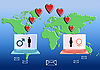 Internet Love concept | Stock Illustration
