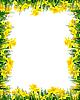 春天的花和草 - 帧 | 光栅插图
