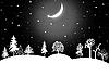 冬季圣诞景观 | 光栅插图