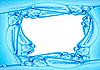 Blue frame of water | Stock Illustration