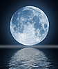 Full moon with water   Stock Illustration