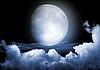 Moon in the night | Stock Illustration