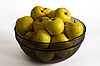 Yellow apples in glass bowl | Stock Foto