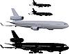 Verkehrsflugzeug | Stock Illustration