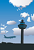 Airport Control Tower | Stock Illustration