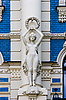 Photo 300 DPI: Detail of Art Nouveau building