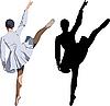 芭蕾舞演员   光栅插图