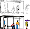 Векторный клипарт: Автобусная остановка